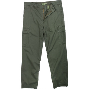 Olive Drab Vintage Military Cargo Flat Front BDU Fatigue Pants