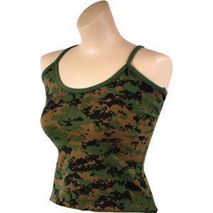 Woodland Camouflage Digital Women's Casual Casual Tank Top
