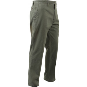 Olive Drab Deluxe Military Army 4 Pocket Style Chino Cargo Pants dc079939c5f