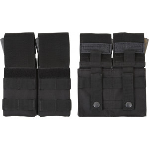 Black Military Double MOLLE M16 Mag Pouch