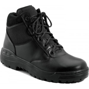 Black Forced Entry Leather Tactical Boots
