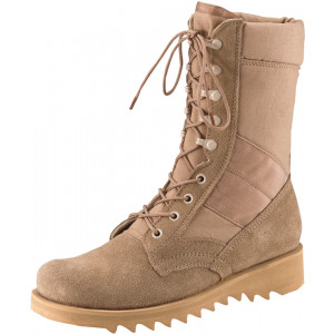 Desert Tan Military Leather Speedlace Ripple Sole Jungle Boots