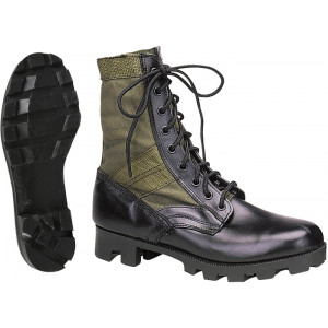 Olive Drab Leather Panama Sole Military Combat Jungle Boots