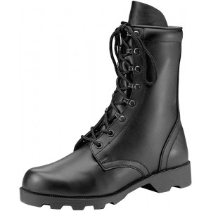 Black Leather Speedlace Military Combat Boots