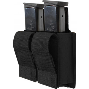 Black Military Double 9 MM Pistol Mag MOLLE Pouch