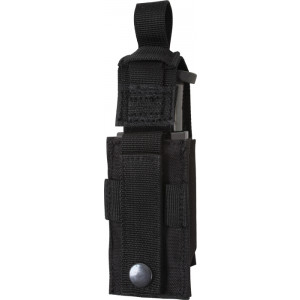 Black Military Single 9 MM Pistol Mag MOLLE Pouch