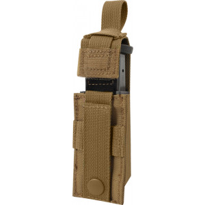Coyote Brown Military Single 9 MM Pistol Mag MOLLE Pouch