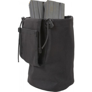 Black Military Roll Up MOLLE Utility Dump Pouch Bucket