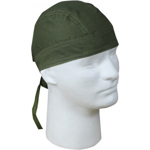Olive Drab Solid Biker Headwrap Bandanna/Do-Rag