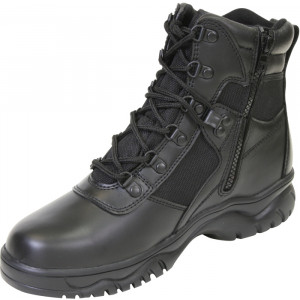 "Black Military Blood Pathogen Tactical 6"" Boots"