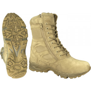 Tan Forced Entry Side Zipper Mountaineer Deployment Combat Boots