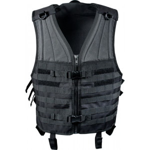 Black MOLLE Modular Military Tactical Assault Vest
