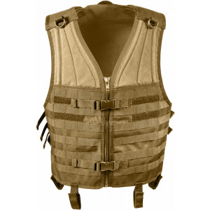 Coyote Brown MOLLE Modular Military Tactical Assault Vest