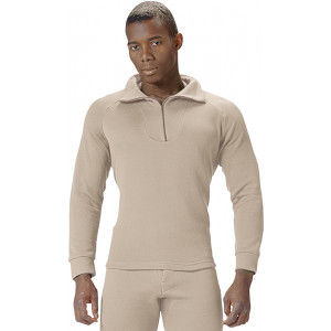 Desert Sand ECWCS Fleece Cold Weather Zip-Collar Underwear Shirt
