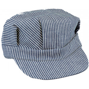 Blue & White Hickory Stripped Engineers Patrol Cap