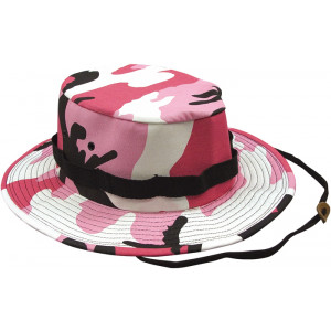 Pink Camouflage Military Wide Brim Jungle Hat