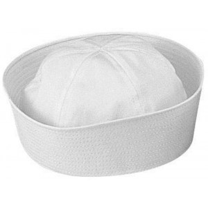 White Military US Navy USN Type Dixie Cup Cotton Sailor Hat