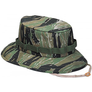 Tiger Stripe Camouflage Military Wide Brim Jungle Hat