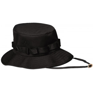 Black Military Wide Brim Jungle Hat
