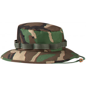 Woodland Camouflage Military Wide Brim Jungle Hat