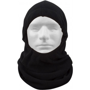 Black Polar Fleece Adjustable Winter Balaclava Mask