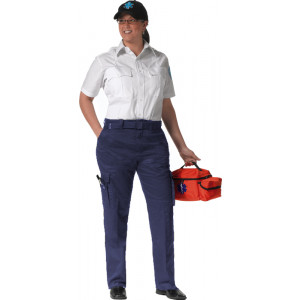 Navy Blue Tactical E.M.T Women Polyester 9 Pocket Uniform Pants