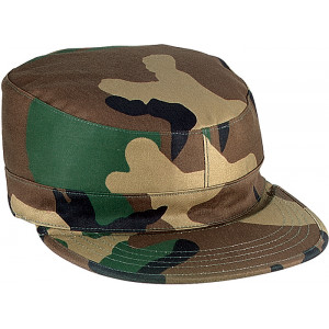 Woodland Camouflage Rip-Stop Map Pocket Patrol Ranger Fatigue Cap