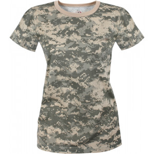 Women's ACU Digital Camouflage Longer Slim T-Shirt