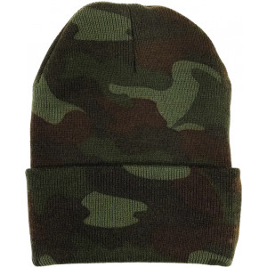 Woodland Camouflage Deluxe Knitted Winter Hat Acrylic Watch Cap