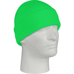 Safety Green Knitted Winter Hat Acrylic Watch Cap