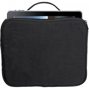 Black Canvas iPad & Netbook Sleeve Pouch Padded Vintage Bag