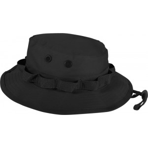 Black Military Wide Brim Boonie Hat