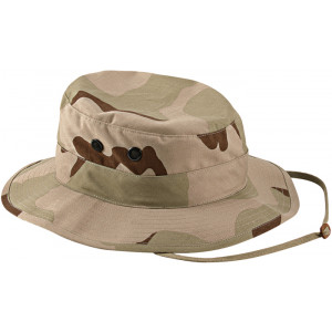 Tri-Color Desert Camouflage Military Wide Brim Boonie Hat