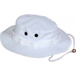 White Military Wide Brim Boonie Hat