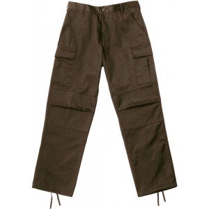 Brown Military BDU Cargo Rip-Stop Fatigue Pants