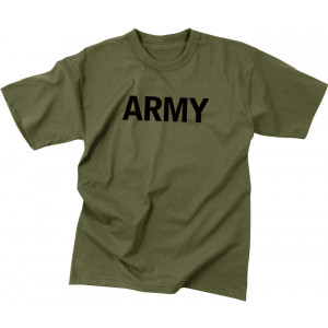 Olive Drab Military Army Short Sleeve T-Shirt