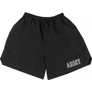Black Military Physical Training Army Jogging Shorts