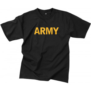 Black Army Official PT Short Sleeve T-Shirt