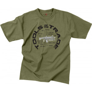 Olive Drab Vintage Military Tools of The Trade Short Sleeve T-Shirt