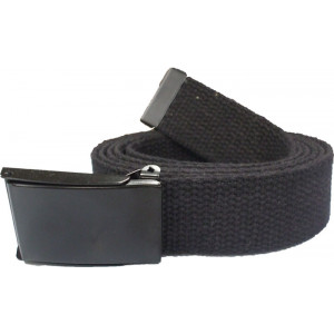 Black Military Web Belt with Black Flip Buckle