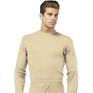 Desert Sand Military Generation III ECWCS Silk Weight Thermal Shirt