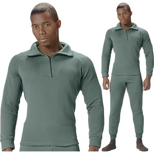 Foliage Green ECWCS Fleece Cold Weather Zip-Collar Underwear Shirt