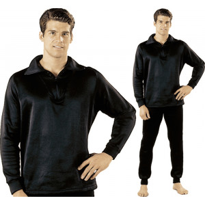 Black ECWCS Fleece Cold Weather Zip-Collar Underwear Shirt