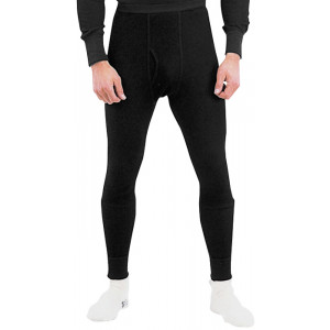 Black Thermal Knit Underwear Bottoms Pants