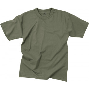 Foliage Green 100% Cotton Plain Solid Military T-Shirt