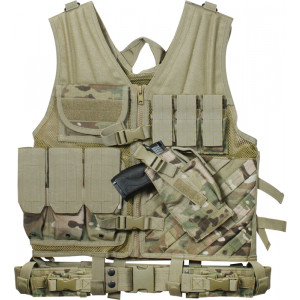 Multi Cam Military Tactical Cross Draw Vest