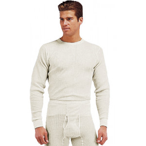 White Natural Thermal Knit Underwear Undershirt