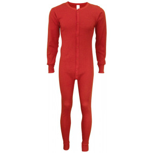 Red Thermal Classic Union Suit