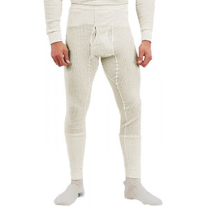 White Natural Thermal Knit Underwear Bottoms