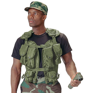 Olive Drab Military Equipment Tactical Assault Gear Vest